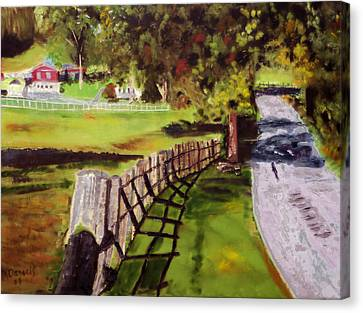 Hidden Brook Farm Canvas Print by Michael Daniels