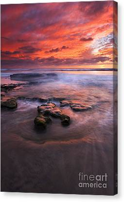 Hidden By The Tides Canvas Print by Mike  Dawson