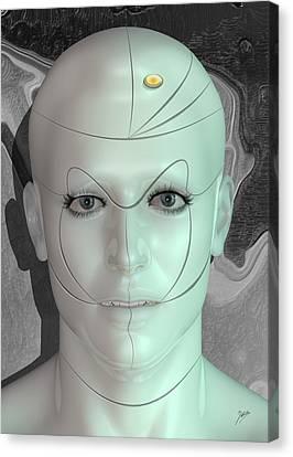 Robot Pleasure Canvas Print by Quim Abella