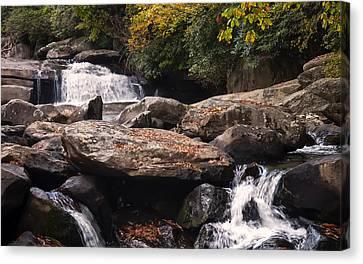 Hidden Falls Canvas Print - Hidden Fall On The Horse Pasture River 2 by Chris Flees