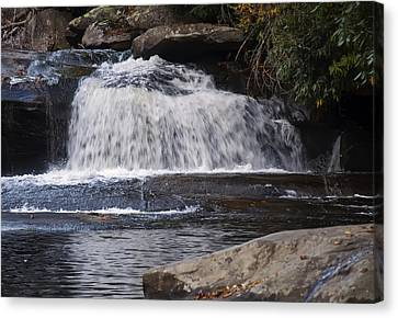 Hidden Falls Canvas Print - Hidden Fall On The Horse Pasture River 3 by Chris Flees