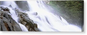 Hidden Falls Canvas Print - Hidden Falls, Cascade Canyon, Grand by Panoramic Images