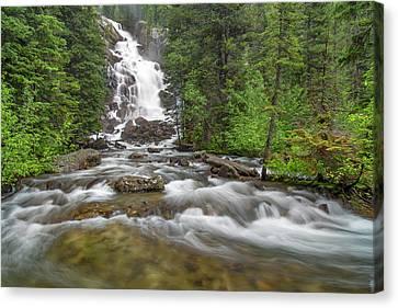 Hidden Falls Canvas Print - Hidden Falls Of Cascade Creek In Grand by Chuck Haney