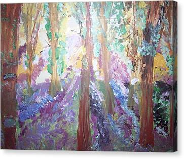 Hidden Forest Fairies Canvas Print by Judith Desrosiers
