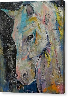Hidden Heart Horse Canvas Print by Michael Creese