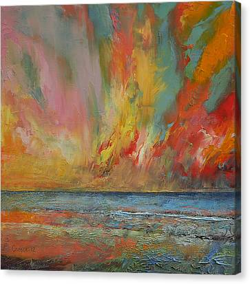 Hidden Heart Lava Sky Canvas Print by Michael Creese