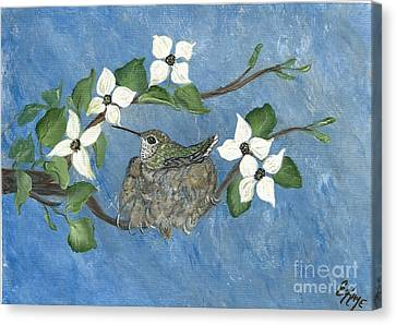 Canvas Print featuring the painting Hidden Jewel by Ella Kaye Dickey