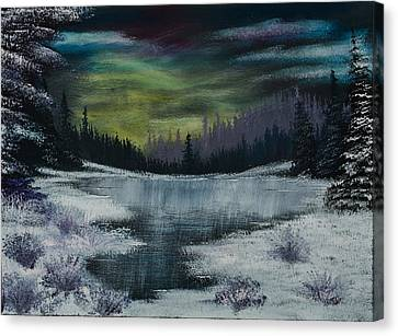 Bob Ross Canvas Print - Hidden Lake by Shannon Wells