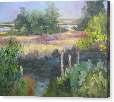 Hidden Mooring Canvas Print by Susan Richardson