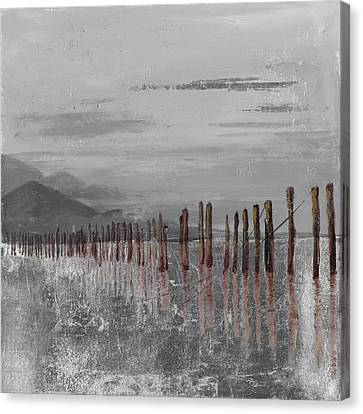 Hidden Canvas Print - Hidden Pier (dark Gray) by Patricia Pinto