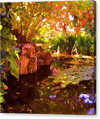 Hidden Pond Canvas Print by Amy Vangsgard