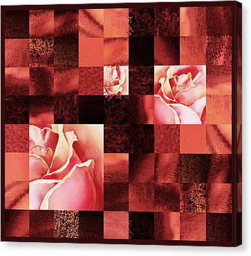 Hidden Roses Squared  Canvas Print by Irina Sztukowski