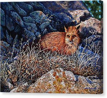 Canvas Print featuring the painting Hide And Seek by Craig T Burgwardt