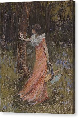 Peaches Canvas Print - Hide And Seek by Elizabeth Adela Stanhope Forbes