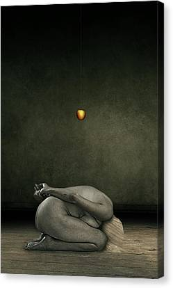 Frightening Canvas Print - Hide My Self by Johan Lilja