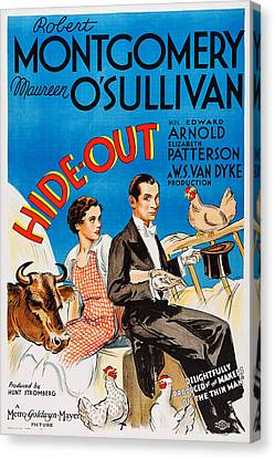 Sullivan Canvas Print - Hide-out, From Left Maureen Osullivan by Everett