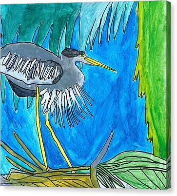 Hidingbird Canvas Print by Artists With Autism Inc