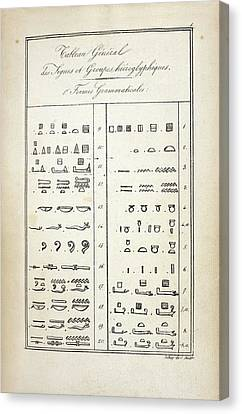 Ancient Egyptian Canvas Print - Hieroglyphics Research by British Library