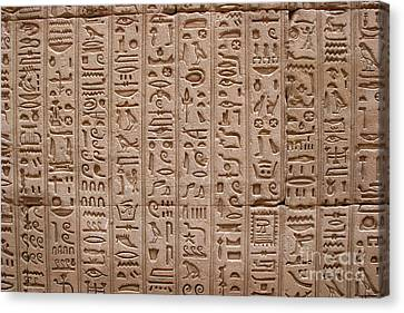 Hieroglyphs At The Temple Of Philae Canvas Print