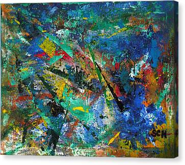 Higgs Field Activity -or- Paint Canvas Print by Scott Haley