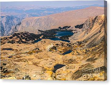 High Altitude Lakes Canvas Print by Sue Smith