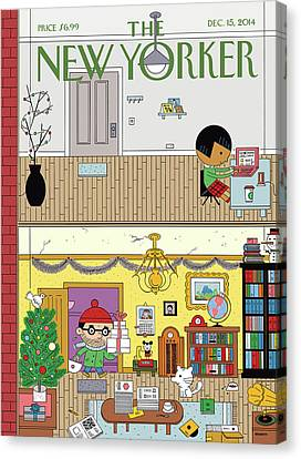 Apartment Canvas Print - High And Low by Ivan Brunetti