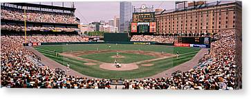 High Angle View Of A Baseball Field Canvas Print by Panoramic Images