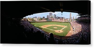Baseball Fields Canvas Print - High Angle View Of A Baseball Stadium by Panoramic Images