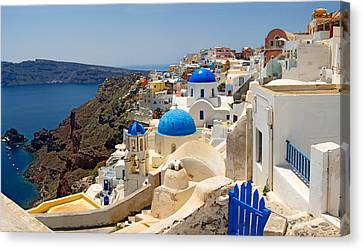 Aegean Canvas Print - High Angle View Of A Church, Oia by Panoramic Images