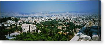 High Angle View Of A City, Acropolis Canvas Print by Panoramic Images