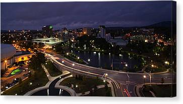 High Angle View Of A City, Big Spring Canvas Print by Panoramic Images