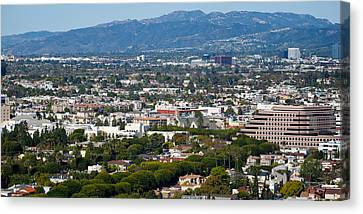 High Angle View Of A City, Culver City Canvas Print