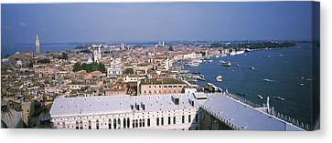 High Angle View Of A City, Grand Canal Canvas Print