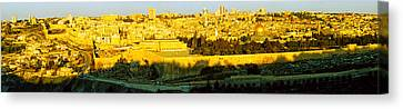 High Angle View Of A City, Jerusalem Canvas Print by Panoramic Images