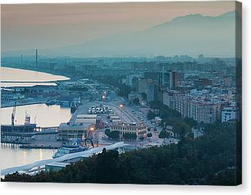 Malaga Canvas Print - High Angle View Of A City, Malaga by Panoramic Images