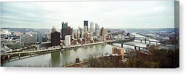 High Angle View Of A City, Pittsburgh Canvas Print