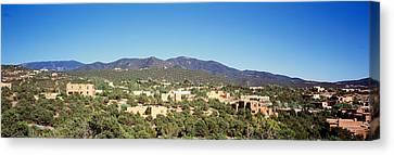 High Angle View Of A City, Santa Fe Canvas Print by Panoramic Images