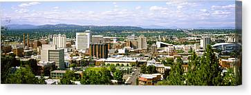 High Angle View Of A City, Spokane Canvas Print by Panoramic Images