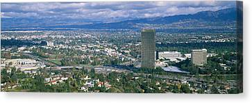 High Angle View Of A City, Studio City Canvas Print by Panoramic Images