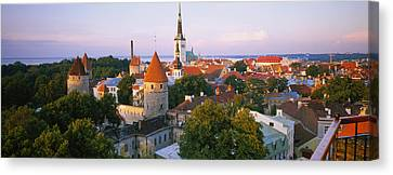 High Angle View Of A City, Tallinn Canvas Print by Panoramic Images