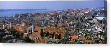 High Angle View Of A City Viewed Canvas Print