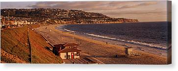 High Angle View Of A Coastline, Redondo Canvas Print