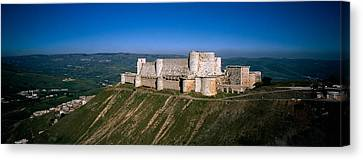 High Angle View Of A Fort, Crac Des Canvas Print