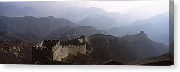 High Angle View Of A Fortified Wall Canvas Print
