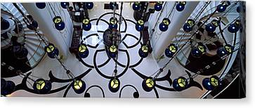 High Angle View Of A Hotel Lobby, W Canvas Print by Panoramic Images