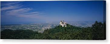 High Angle View Of A Palace On Top Canvas Print by Panoramic Images
