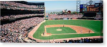 High Angle View Of A Stadium, Pac Bell Canvas Print by Panoramic Images