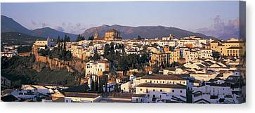High Angle View Of A Town, Ronda Canvas Print