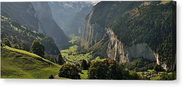 Wengen Canvas Print - High Angle View Of A Valley by Panoramic Images