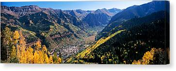 High Angle View Of A Valley, Telluride Canvas Print by Panoramic Images